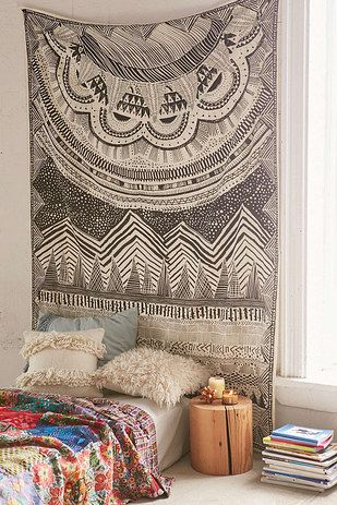 Hang a gorgeous tapestry above your bed. | 17 Ways To Transform Your Home Into A Hippie Heaven