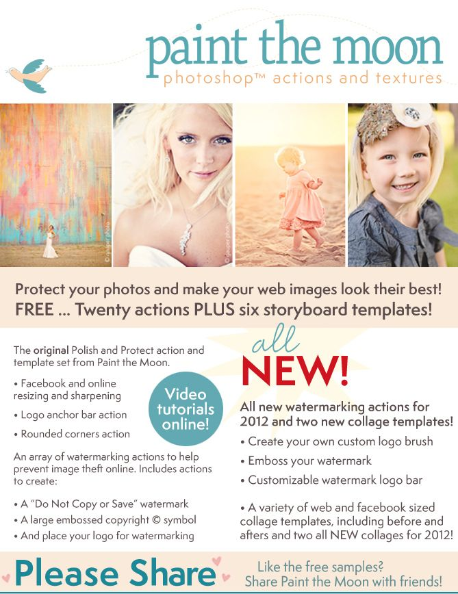 Free photoshop actions...
