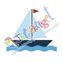 Vitorlás hajó ovis öntapadós jel