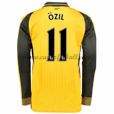 Arsenal Fotballdrakter 2016-17 Ozil 11 Bortedrakt Langermet