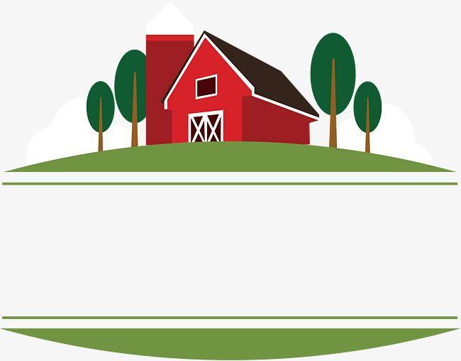 مربع عنوان مزرعة البيت الأحمر ناقلات منزل ناقلات المزرعة ناقلات مربع Png والمتجهات للتحميل مجانا Farm Vector Red House House Vector