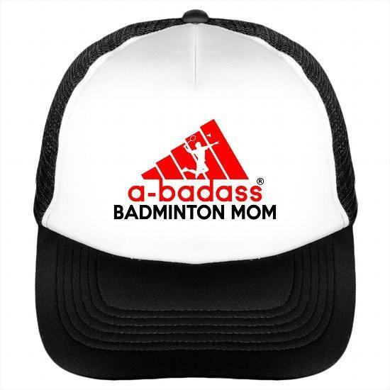 Awesome Tee A Badass abadass Badminton Mom Cap Hat T-Shirts