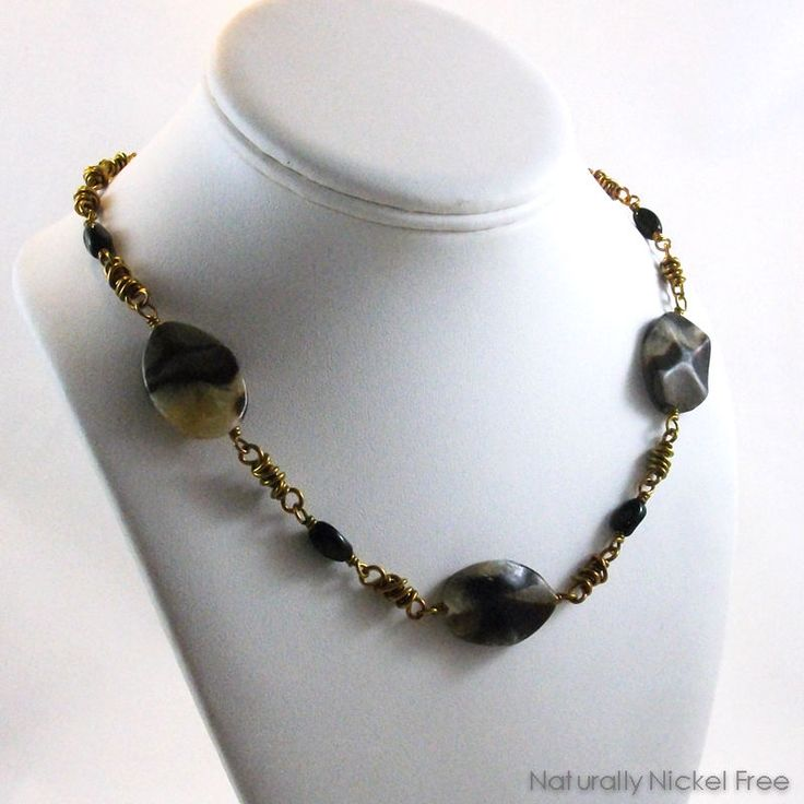 Septarian Stone Niobium Necklace by Naturally Nickel Free Jewelry For Sensitive Skin