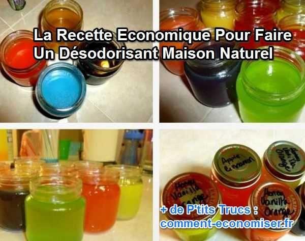 Les désodorisants industriels sont chers et bourrés de produits chimiques qui viennent polluer votre intérieur. Heureusement, il existe une recette naturelle et économique pour faire vous-même votre désodorisant maison. Découvrez l'astuce ici : http://www.comment-economiser.fr/desodorisant-maison-naturel.html?utm_content=buffer935b2&utm_medium=social&utm_source=pinterest.com&utm_campaign=buffer
