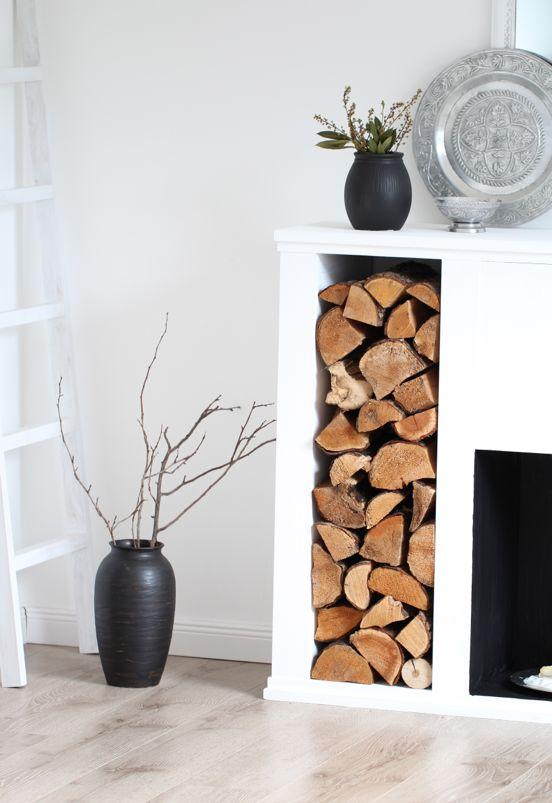 design dots diy fake fireplace diy kaminkonsole