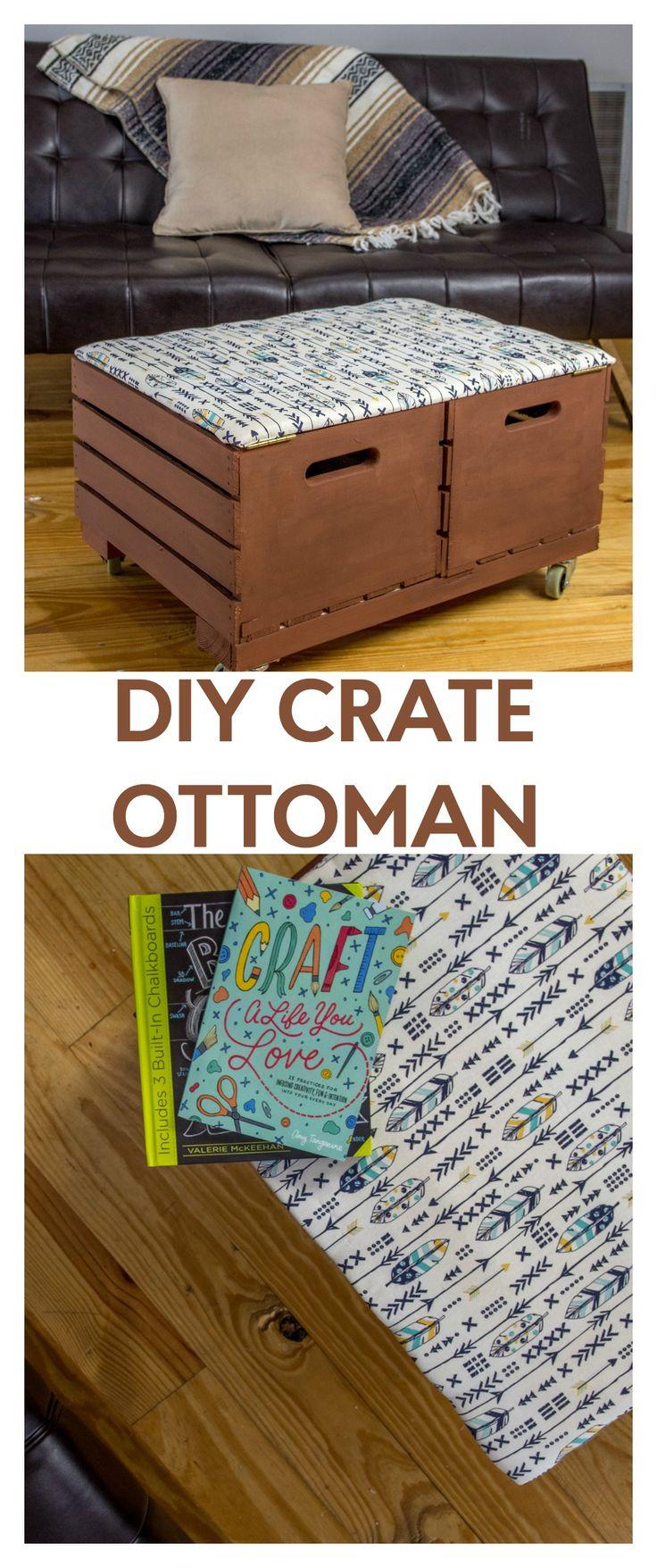 25 Best Ideas About Crate Ottoman On Pinterest Diy