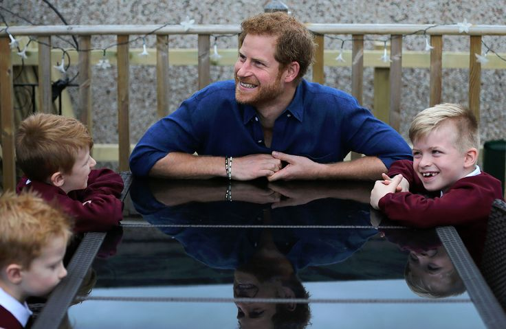 Happy 33rd Birthday Harry!!! Britain's Prince Harry gestures during his visit to the home of Oliver Rooney,  who has Wolf Hirschhorn Syndrome, (unseen) in Bramley in Leeds, Yorkshire on July 7, 2017, the second day of his two-day visit to the city. /