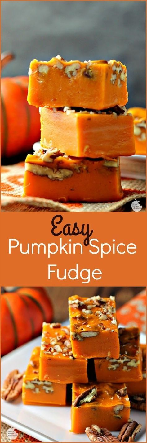 Easy Pumpkin Spice Pecan Fudge | by Renee's Kitchen Adventures - Easy recipe for…