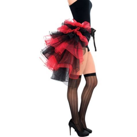Tie-On Burlesque Bustle for Adults - Party City Harley Quinn costume idea