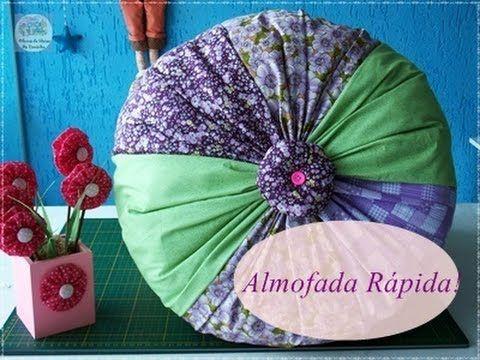 Faça uma linda almofada usando tiras de tecido!