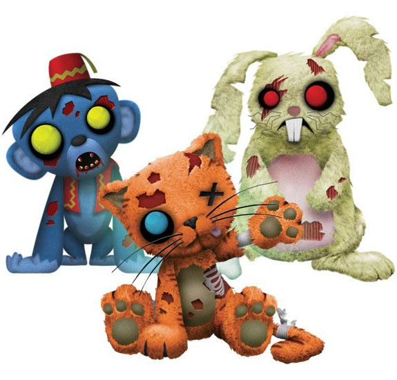 Creepy Cuddlers Zombies Plush Set Series 2 | GeekAlerts