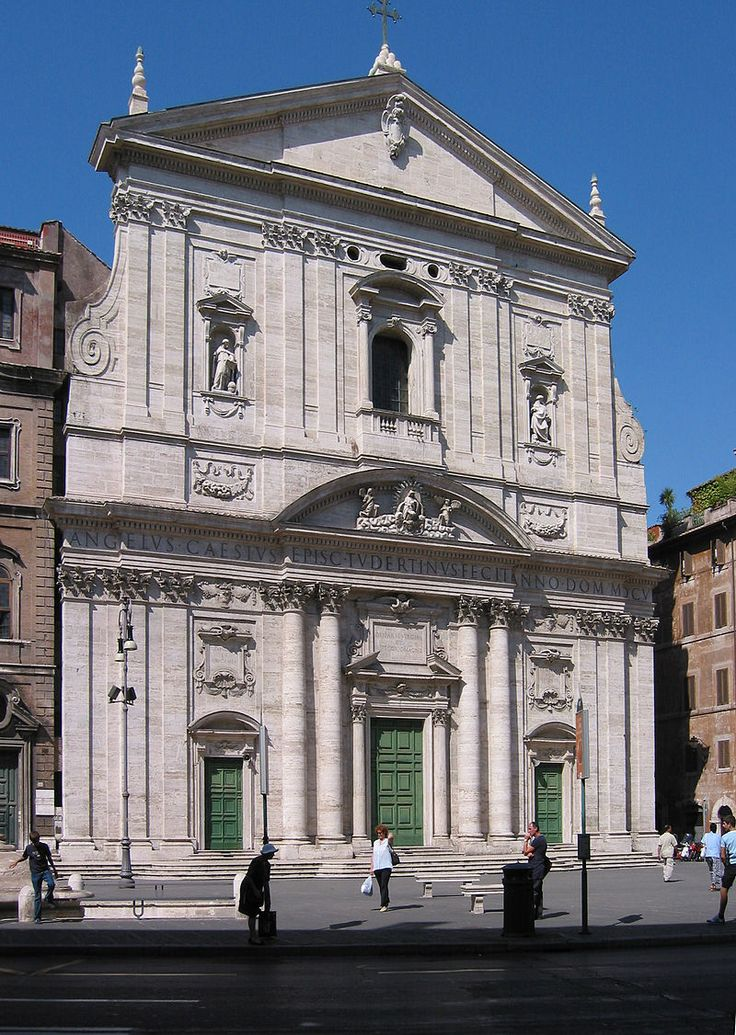Santa Maria in Vallicella, rok 1605, Martino Lunghi, forma pośrednia między Il Gesu a S. Luigi dei Francesi