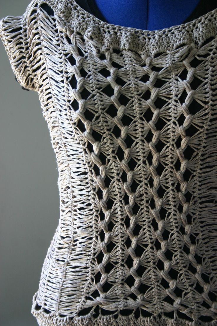 Hairpin lace top----I like the pattern---would make a cute scarf!