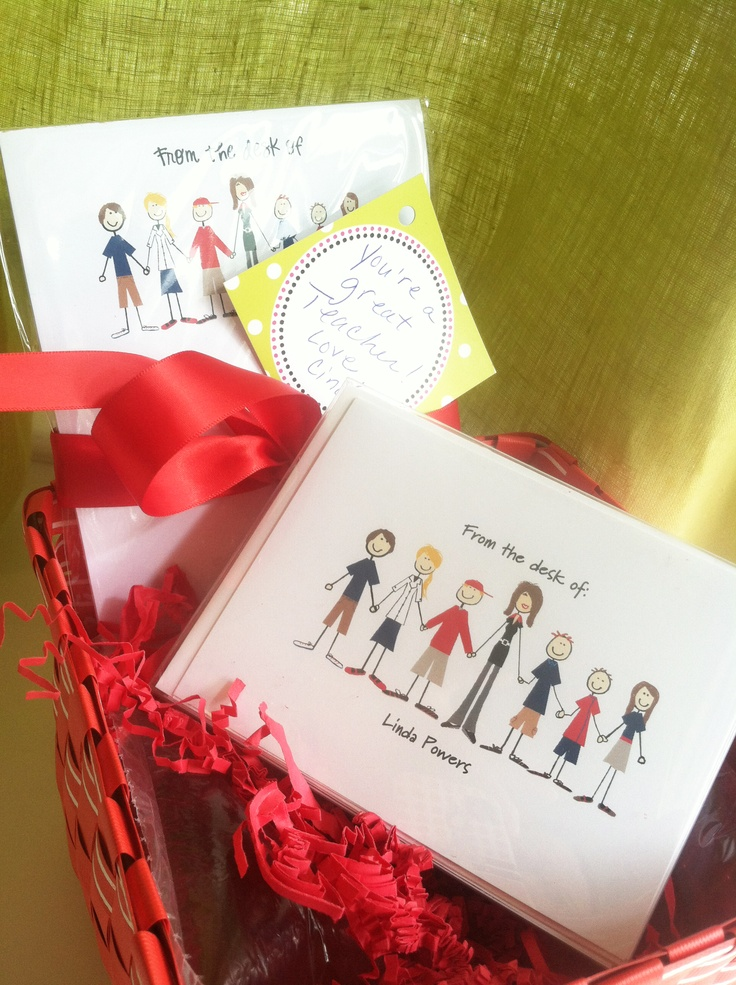 A fun and unique teacher stationery gift basket