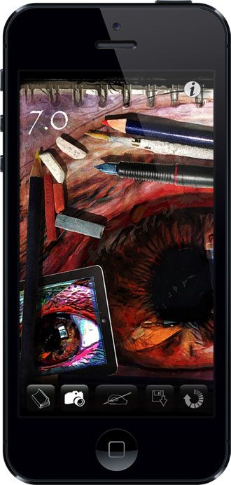 iPhone App Screenshot. Camera Lucida a tool developed by great artists to assist them in drawing detail and perspective from Caravaggio to Warhol