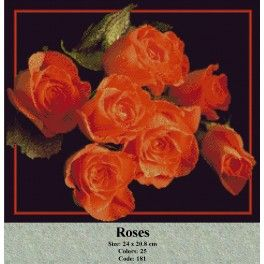 Cross Stitch Kit - Roses