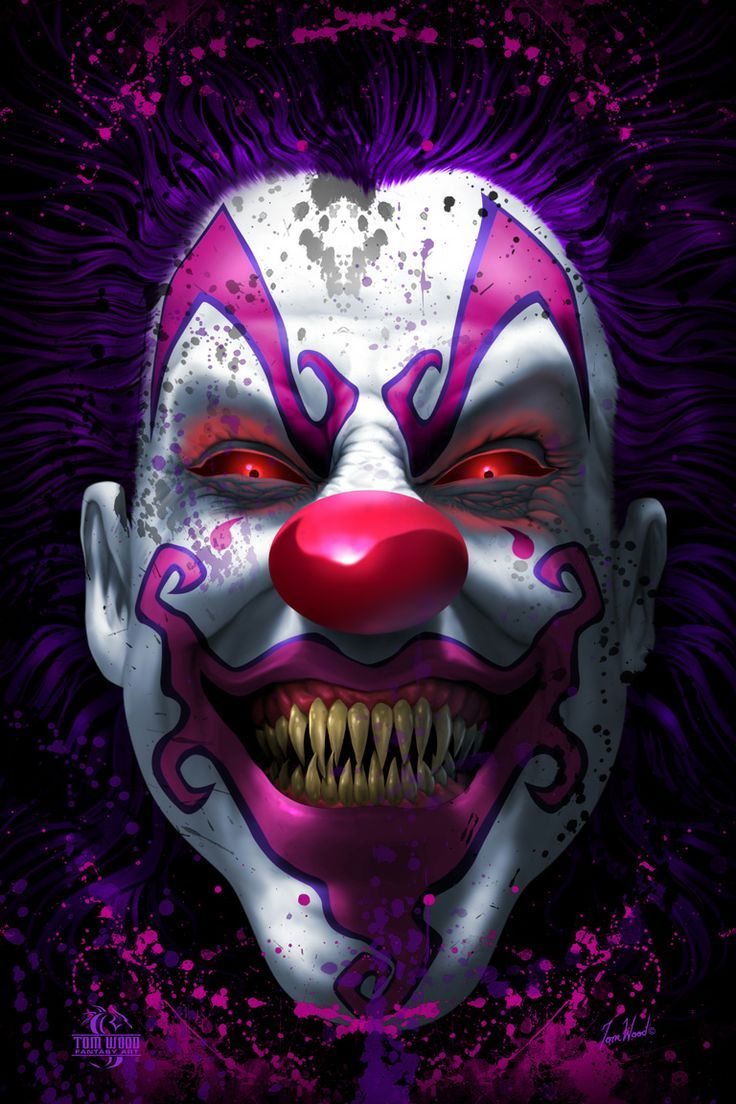 17 Best images about Creepy Clown Art on Pinterest | Freak ... |Creepy Clown Painting