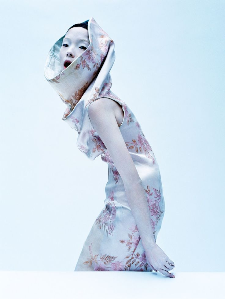Dark Angel, Xiao Wen Ju by Tim Walker for UK Vogue, March 2015