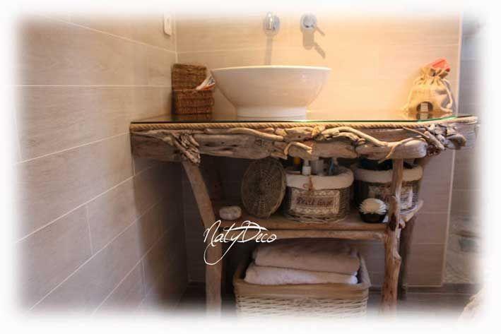 meuble de salle de bain en bois flott natydeco http www On meuble en bois flotte