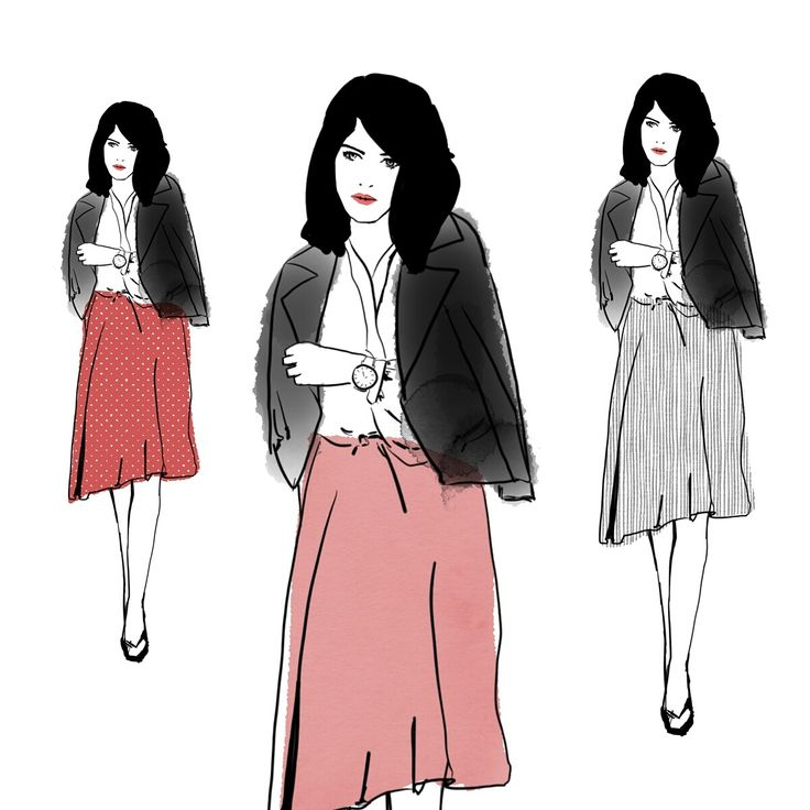 Three outfits are better than one. Playing around with patterns and design to get the right look.