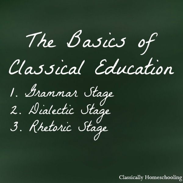 Basics of Classical Education. What is classical education? How do you teach the three stages? What is the goal of the classical homeschool?- Classically Homeschooling