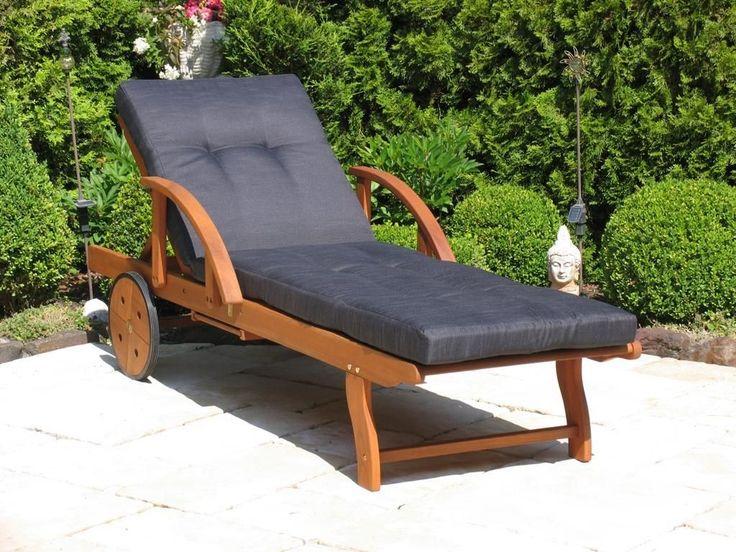 Grasekamp Gartenliege Mit Kissen Anthrazit Holz Liege Sonnenliege  Relaxliege Jetzt Bestellen Unter: ...