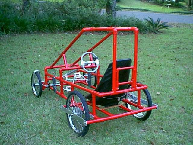 The Baja a 4 wheel recumbent cycle that is part go-kart and part pedal car.