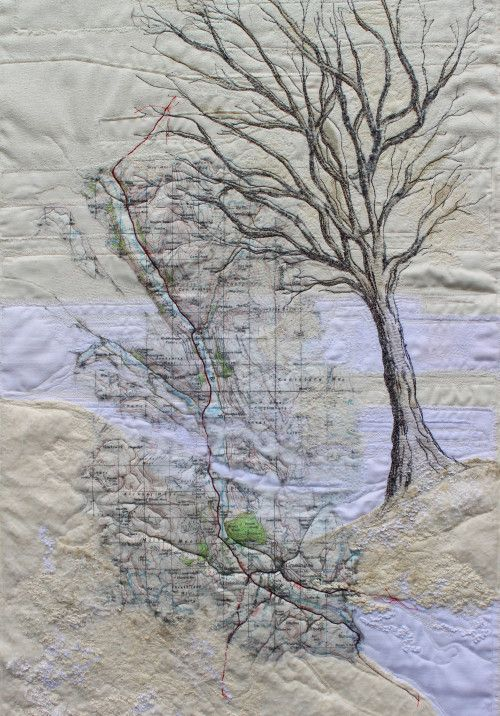 In her current series of work – 'A Sense of Place' Wendy is exploring the landscape, incorporating maps into her...