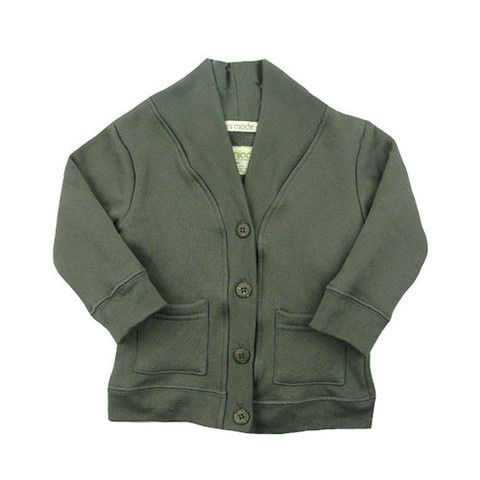 Fleece Cardi - mini mioche - organic infant clothing and kids clothes - made in Canada