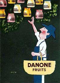 """1960 - """"Danone Fruits"""", Danone (Raymond Savignac)"""