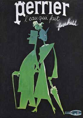 ¤ 'Perrier' water ad by Paul Colin; L'eau qui fait pschitt. Paul Colin (Nancy 1892 - Nogent-sur-Marne 1985)