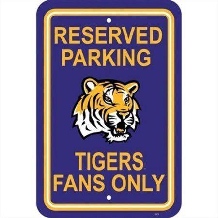 Ncaa LSU Tigers Parking Sign, Multicolor