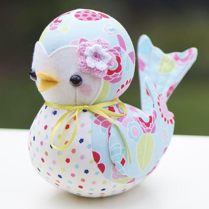 Sewing pattern to create your own patchwork fabric bluebird #mellyandme #bluebird #pattern