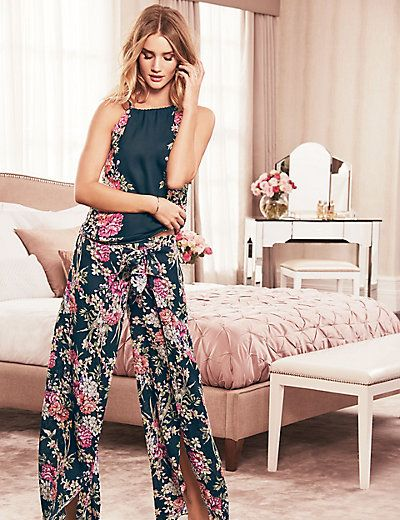 Thai Rose Print Pyjama Bottoms | M&S