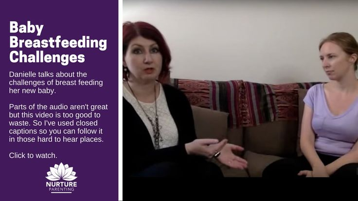 In this video Danielle talks about the challenges of breastfeeding her new baby…