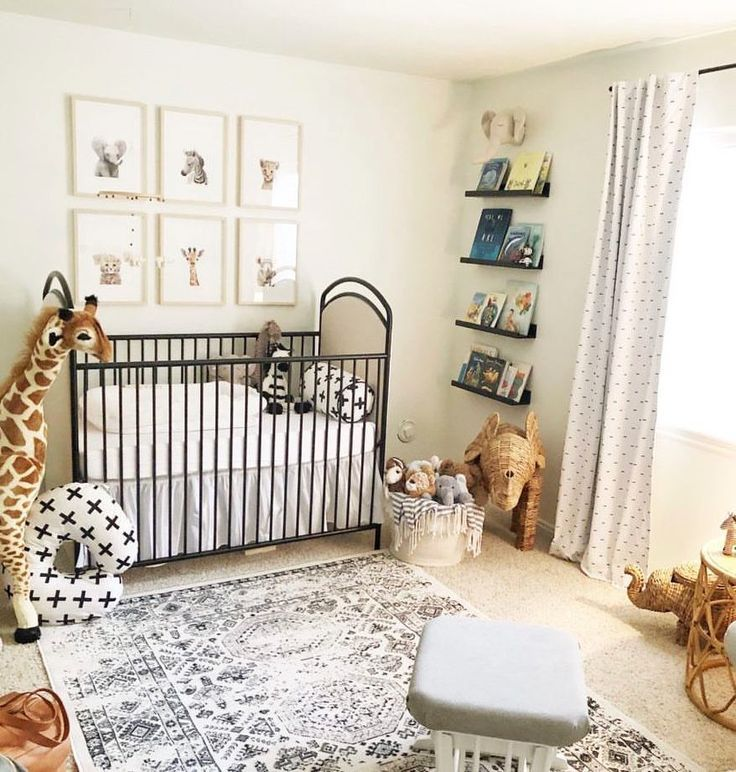 This Safari-themed Gender Neutral Nursery Was Designed Over Years, While This Couple Waited On Their M… | Neutral Safari Nursery, Baby Boy Nurseries, Baby Boy Rooms