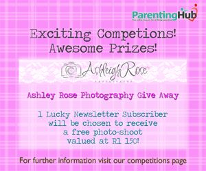 Enter to win a photoshoot of your child - Johannesburg only. Valued at R1150  http://www.parentinghub.co.za/competitions/ashleigh-rose-photography-competition/