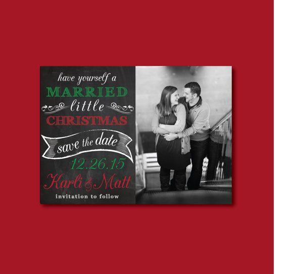 Christmas Save Date Cards Weddings