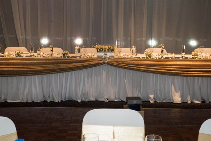 Bridal Table draped in Gold  http://www.tailracecentre.com.au/2013/12/01/love-patient-2/