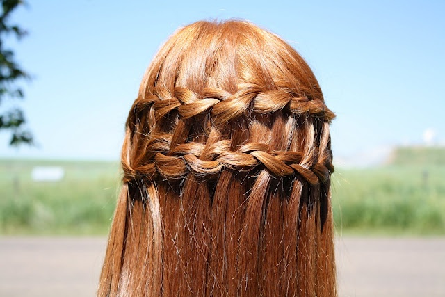 The double waterfall braid - tutorial on the website