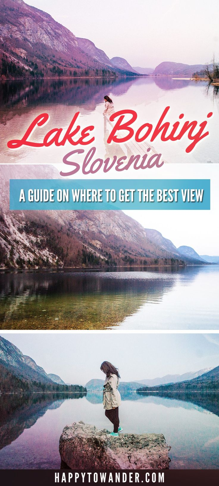 Lake Bohinj, Slovenia is one of THE most magical and serene lakes in the whole world. Here's an easy guide on how to get the best views of this massive lake (Slovenia's largest), including a map on how to get to the best spot for photos.