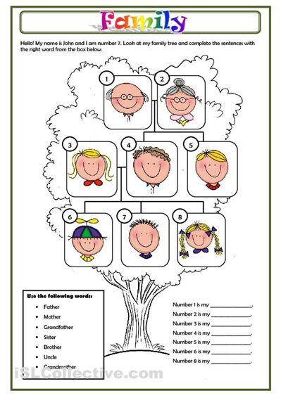 FAMILY worksheet - Free ESL printable worksheets made by teachers