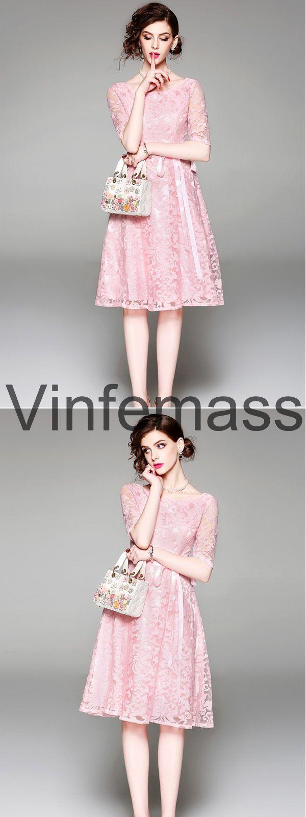 2 piece white lace dress may 2019 Pink Lace Party Dresslovely style vinfemass pinkdress lacedress