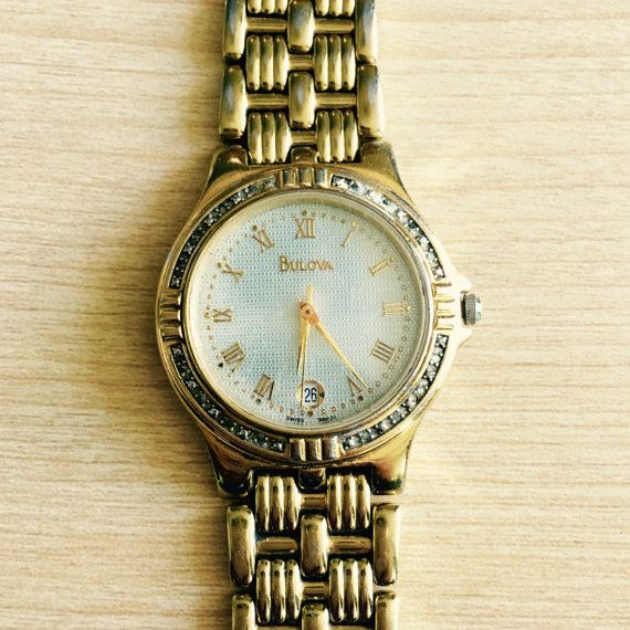 Bulova 22 Diamond Two-tone Stainless Steel Watch