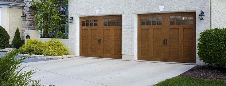 Custom Crafted Wood-Look 4-Layer | Ideal Garage Doors