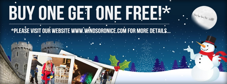 Special offers - Buy One get One Free! - for ice skating in the stunning surroundings of Windsor Castle ...  terms apply.    There's plenty more ways to save at Windsor ice rink - see the official website!