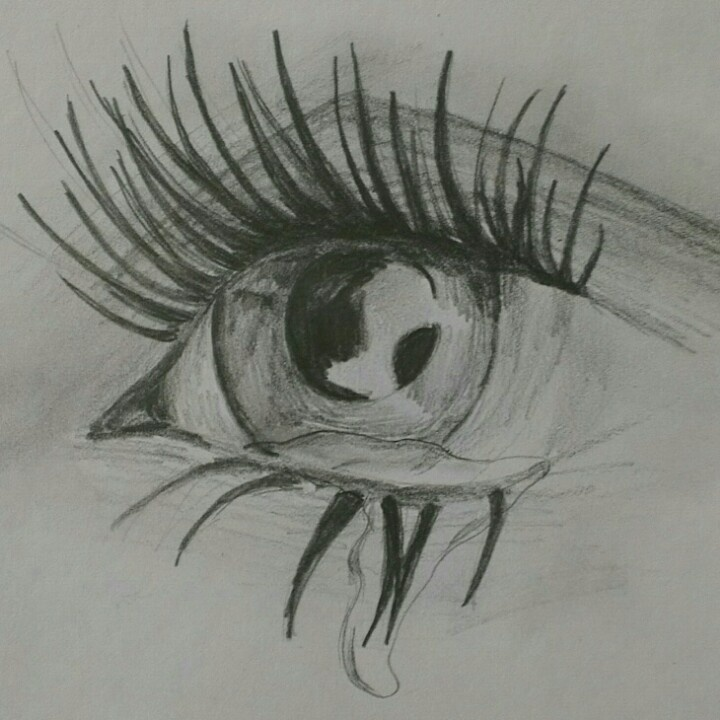 Crying eye sketch inspirational creatings Pinterest