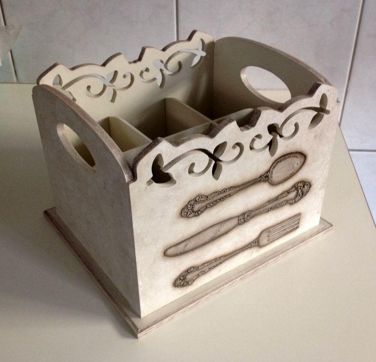 Porta talheres com arabesco - Talheres | Atelier Marcia Campos | Elo7