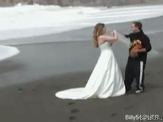Having a wedding ceremony during high tide: