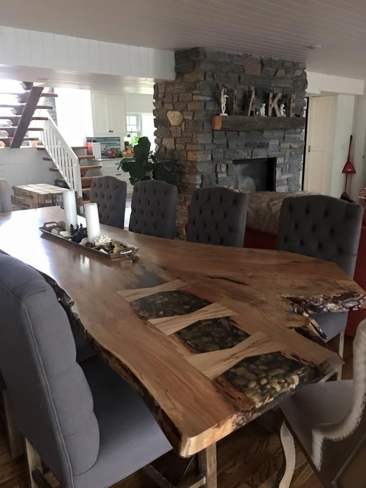 Die besten 25+ Wood slab dining table Ideen auf Pinterest - moderne esszimmermobel design ideen
